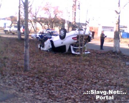 Красивая авария в городе Славгороде