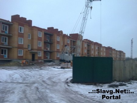 Стройка в военном городке.