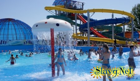 Открытие аквапарка «Лава» на Яровом