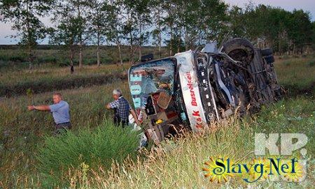 «Тойота» врезалась в автобус Новосибирск – Яровое